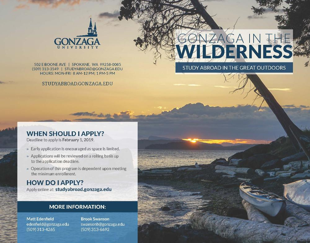 Gonzaga in Wilderness 2019 1
